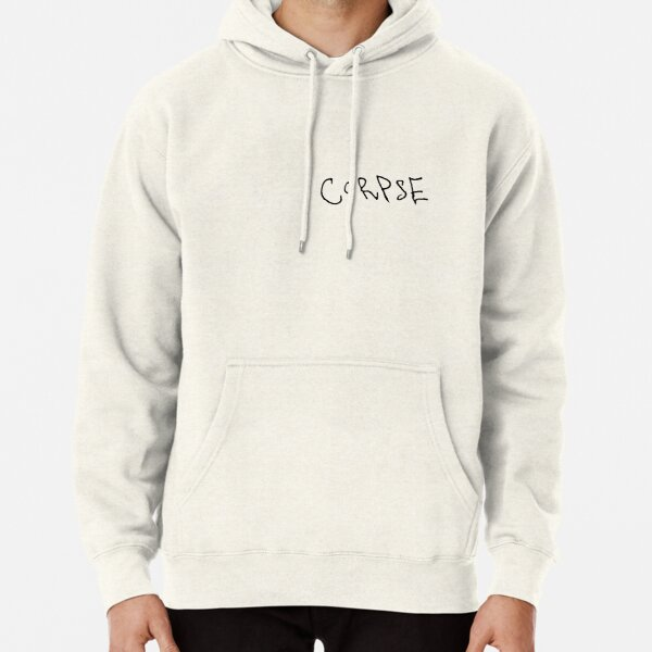 Corpse Husband Logo Name Merch (stickers and more) black edition Pullover Hoodie RB2605 product Offical Corpse Husband Merch