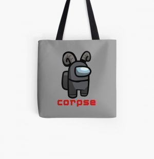 Corpse Husband - Among Us Character Crewmate  All Over Print Tote Bag RB2605 product Offical Corpse Husband Merch