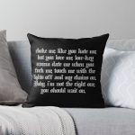 E-GIRLS ARE RUINING MY LIFE! - Corpse Husband Throw Pillow RB2605 product Offical Corpse Husband Merch