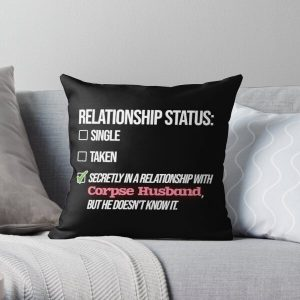 Relationship with Corpse Husband Throw Pillow RB2605 product Offical Corpse Husband Merch