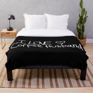 I love Corpse Husband Throw Blanket RB2605 product Offical Corpse Husband Merch