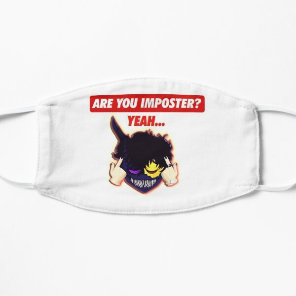 Corpse husband -Are you imposter ? Flat Mask RB2605 product Offical Corpse Husband Merch