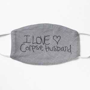I love Corpse Husband Flat Mask RB2605 product Offical Corpse Husband Merch
