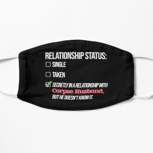Relationship with Corpse Husband Flat Mask RB2605 product Offical Corpse Husband Merch