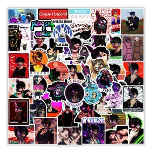 50pcs Cool Anime Corpse Husband Stickers Graffiti Stickers for Skateboard Luggage Laptop Waterproof Sticker Decal Classic - Corpse Husband Merch