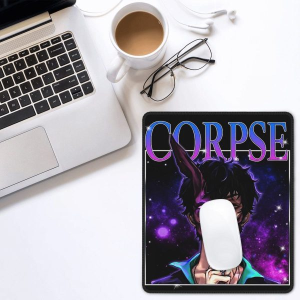 Cool Corpse Husband Vintage Mouse Pad with Locking Edge MousePad Natural Rubber PC Table Decoration Cover 5 - Corpse Husband Merch
