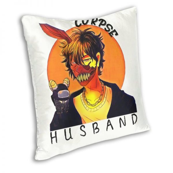 Corpse Husband Cushion Cover Double sided Printing Thriller Gamer Floor Pillow Case for Car Cool Pillowcase 1 - Corpse Husband Merch