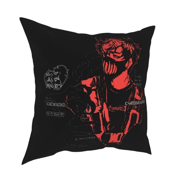 Corpse Husband Red Pillow Case Home Decorative Cushions Throw Pillow for Car Polyester Double sided Printing - Corpse Husband Merch