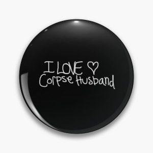 I love Corpse Husband Soft Enamel Pin Cartoon Metal Cute Jewelry Collar Lapel Pin Decor Fashion - Corpse Husband Merch